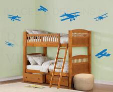 Airplane Plane Large Kids Boy Nursery Playroom Wall Decal Vinyl Sticker Art G38