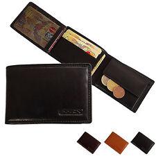 BOCCX kleine Herren Geldbörse Leder Herrenbörse Geldbeutel Minibörse Börse 20020