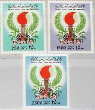 La Libye Libye 1983 1083-85 1053-55 torch type ardente torche people Heads MNH