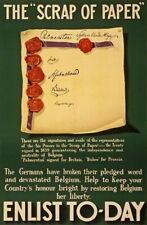 84682 Vintage British Scrap Of Paper Enlist Today Decor WALL PRINT POSTER CA