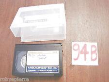 Cassetta VHSC VHS C VideoCassetta VIDEO MEMOREX TC30 TC 30 PRO HIGH GRADE usa