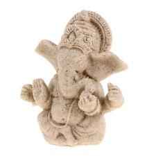 Grès Statue de Ganesh Dieu Fait à Main pour Décor Maison Bureau