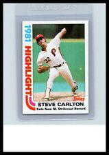 1982 Topps #1 Steve Carlton (Phillies)  (Pick Your Card)