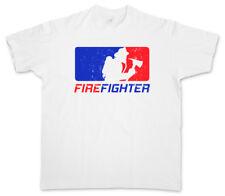 FIREFIGHTER T-SHIRT Fire Brigade Axe Helmet Volunteer Department Dept Feuerwehr