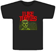 I Like Turtles Funny Joke Kid Tosh Freaky Black T Shirt