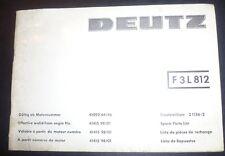 Deutz Motoren F3L 812 Ersatzteil-Katalog