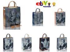 Ladies Womens Marlyn Monroe 3D Effect Top Handle Handbag Girl Fashion Patent Bag