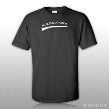Muzzleloader T-Shirt Tee Shirt Gildan S M L XL 2XL 3XL Cottongun powder black