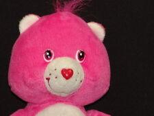 SOFT SECRET HEART LOCK PLUSH CARE BEAR PINK STUFFED ANIMAL FRIEND 2004 TOY