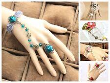 Bracelet Ring Handmade Lace Jewelry Adjustable Fashion Victorian Goth Punk