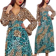 3db19bbec968 Vestito donna scollato leopardato leo animalier elegante abito sexy JL-2770