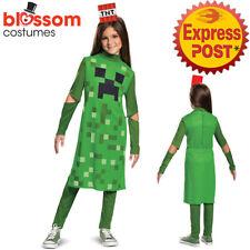 CK1626 Minecraft Creeper Girl Hostile Mobs Video Game Fancy Dress Child Costume