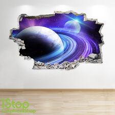 Adesivo parete dello spazio 3d Look-Moon PIANETA GALASSIA STELLE Camera da Letto per Ragazzi z303
