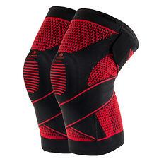 2PCs Kuangmi Silicone Knee Brace support Pad Patella Protect Bandage Compression