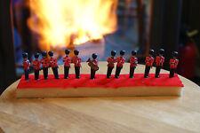 Old Vintage Queen's Guards Band Royal England British Guardsmen Candles Figures