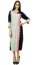 Phagun Cotton Floral Kurta Women Ethnic Designer Tunic Dress Button Down Kurti