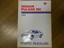 1989 Nissan Pulsar NX Wiring Diagram Service Repair Shop Manual FACTORY OEM 89
