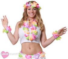 Bright 90cm Hawaiian Lei Luau Hula Girl Flower Garland Hen Night Neon