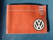 VW OWNERS MANUAL jetta 1985 new gli diesel 85