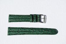 bracelet montre requin véritable vert double joncs 20mm