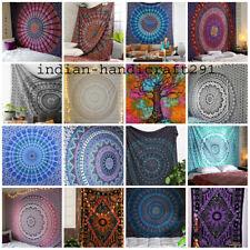 Indian Mandala Bedspread Hippie Tapestry Twin Wall Hanging Throw Rug Decor Throw