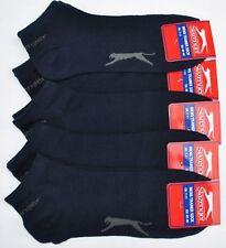 10 X Slazenger Trainer Socks 7-11 Black,White,Grey,Navy Blue &Multi **CHEAPEST**