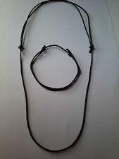 1.5 mm Cordón de Cuero Negro Ajustable Deslizante NUDO Gargantilla Collar y Pulsera