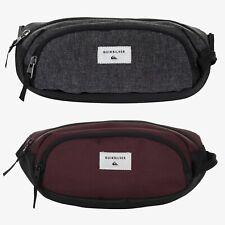 Quiksilver Smuggler Waist Bag Bum Fanny Hip Pack Pouch Gray Burgundy EQYBA0311