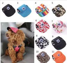Dog Baseball Cap Outdoor Pet Sun Hat Summer Canvas Visor Puppy - Size Sm - XL