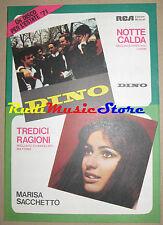 DINO MARISA SACCHETTO RARO SPARTITO SINGOLO 1971 Migliacci Mattone no cd lp