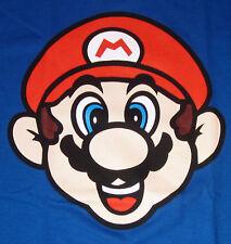 Super Mario Bros. T-shirt New Adult Tee Blue S-2XL New