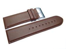 Uhrenarmband - leicht gepolstert - echt Leder - glatt - braun - 26, 28 mm