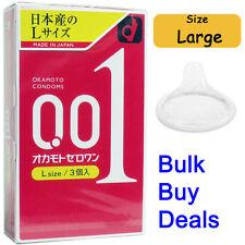 World's Thinnest Japan Condom Okamoto 001 0.01 Zero One Ultra Thin Size Large L