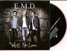 E.M.D. - all for love CD SINGLE 2TR CARD 2007 (DANNY SAUCEDO) RARE!!