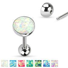 Zungenpiercing Opal Imitat Chirurgenstahl 316L Barbell Piercing Edelstahl SET