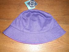 MOUNTAIN WAREHOUSE PURPLE HOT PINK REVERSIBLE TWILL BUCKET HAT 1 2 3 4 Y BNWT