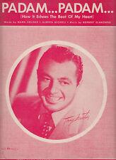 Padam Padam-1952-Mann Holiner-6  Page-Sheet Music