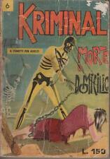 KRIMINAL  #  6  MORTE A DOMICILIO  corno 1965  magnus & bunker  e