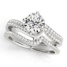 Ladies Designer 14K White Gold 1.50 Ct Diamond Wedding Engagement Rings 16111