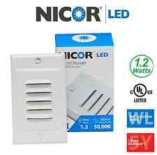 NICOR LED Step Light with Photocell Sensor Option   STP-10-120-WH   15710