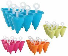 ICE Lolly Molde. haz 6 Ice Pops recipiente con hielo Lolly Molde de Silicona & Stick