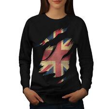 Flag Patch Country UK Women Sweatshirt NEW | Wellcoda