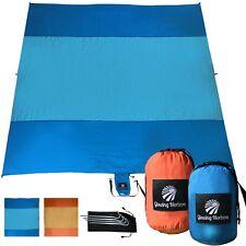Beach Blanket/Mat Sand Free Medium Size in Compact Bag. Durable Parachute Nylon