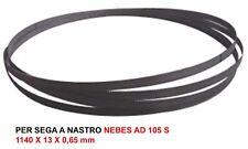 LAMA SEGA A NASTRO BIMETAL M42  PER NEBES TM AD 105 S  (1140 x 13 x 0,65 mm)