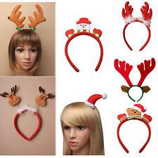 New Christmas Reindeer Santa Hat on Sleepie Snowman Alice Teddy Bear Headband