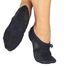 Black leather capezio fizzion Z11 split sole jazz shoes  -  all sizes