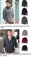 Independent Trading Co Lightweight Hood Pullover SS150J Full Zip SS150JZ T-Shirt