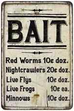 BAIT Price List Vintage Look Chic Advertising 8x12 Metal Sign Fishing Man Cave