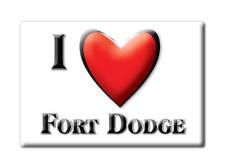 SOUVENIR USA - IOWA FRIDGE MAGNET AMERICA I LOVE FORT DODGE (WEBSTER COUNTY)