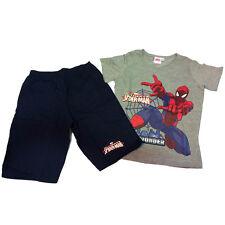SPIDERMAN pigiama completino corto t-shirt +pantaloncino in cotone blu bambino